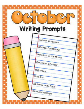 October NO PREP Journal Prompts