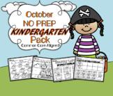 October NO PREP Kindergarten Language Arts Pack - Common C
