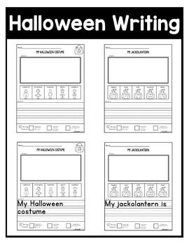 October NO PREP Kindergarten Packet-OVER 100 PAGES!