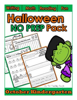 October NO PREP Kindergarten Super Pack!