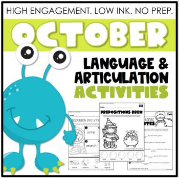 October NO PREP: Language & Articulation