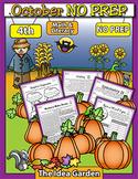 October NO PREP - Math & Literacy (Fourth)