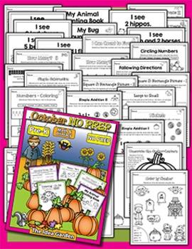 October NO PREP - Math & Literacy (Pre-K)