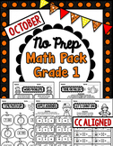 October No Prep Math - 1st Grade