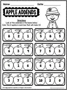 October No Prep Math - 1st Grade
