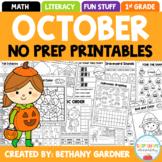 October NO PREP Printables Packet - Halloween/Autumn - Fir