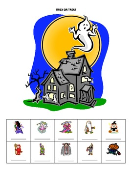 October Name Game for Articulation and Language:  Trick or Treat