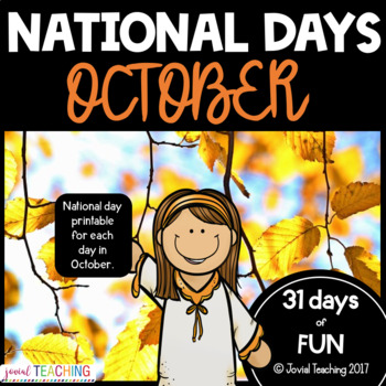 October National Days Pages