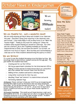 October Newsletter FDK