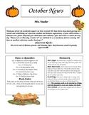 October Newsletter K-6
