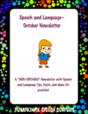 October Newsletter (Non-Editable) for Speech and Language