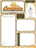 October Newsletter - Parent Communication