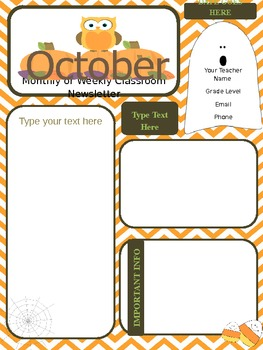 october newsletter parent communication tpt