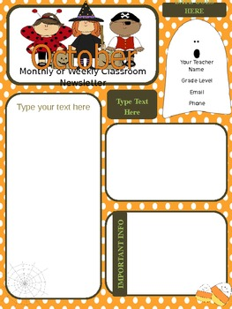 original-339477-2 October Newsletter Template For Pre on free downloadable preschool, printable downloadable,