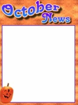 october newsletter template by funstuff4teachers tpt