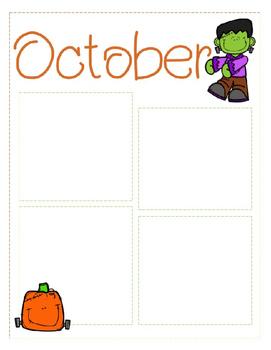 october newsletter template editable by krista s kindergarten tpt