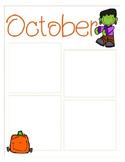October Newsletter Template {Editable}