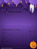 October Newsletter Template (Editable)