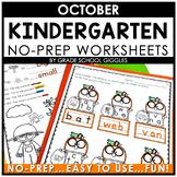 Phonics And Math Worksheets For Kindergarten | October Morning Work Activities
