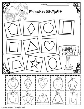 October No-Prep Letters-Shapes-Counting