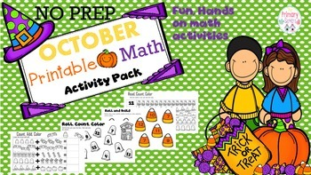 October No Prep Math Activities