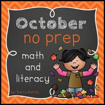 October No Prep Math and Literacy