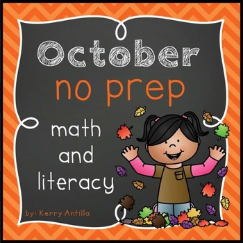 October No Prep Math and Literacy
