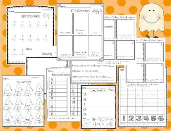 October No Prep Math and Literacy Packet for First Grade