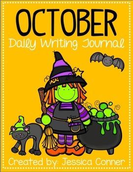 October No Prep Writing Journal