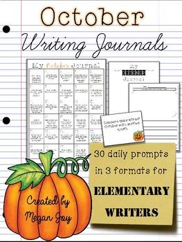 October Bell Ringer Draw & Write Daily Journal