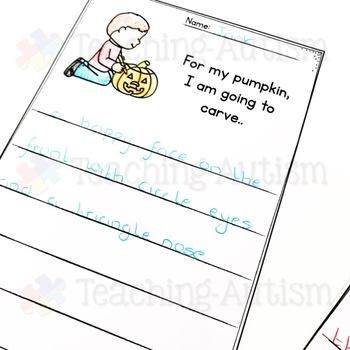 October No Prep Writing Prompt Worksheets