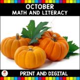 October No Prep and Digital Activities (Kindergarten)