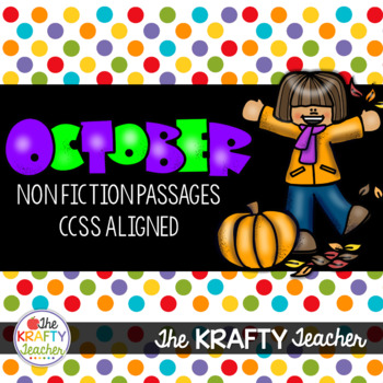 October Reading Comprehension - Nonfiction Passages