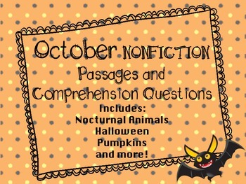 October Nonfiction Reading Passages