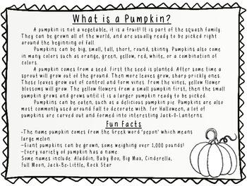October Nonfiction Reading Passages