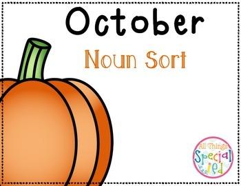 October Noun Sort