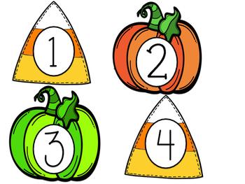 October & November Calendar Numbers