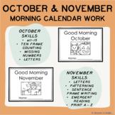 October & November Good Morning Calendar Work