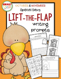 October & November Special Days Lift-the-Flap Writing Prompts