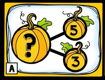 October Number Bonds- Write the Room