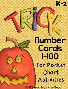 October Number Cards 1-100 for Pocket Chart Activities