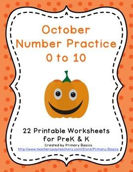 October Number Practice 0 to 10