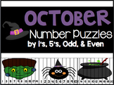 October Number Puzzles {45 Puzzles Included}
