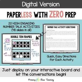 First Grade Number Talks - Unit 2 (October) DIGITAL and Printable