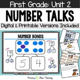 First Grade Number Talks Unit 2 for Classroom and DISTANCE LEARNING