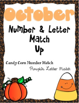 October Number and Letter Match Up