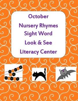 Nursery Rhymes Sight Word Look & See Literacy Center Week 1 & 2