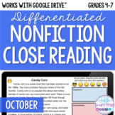 October ONLINE Differentiated Nonfiction Close Reading Tex