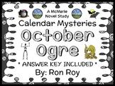 Calendar Mysteries: October Ogre (Ron Roy) Novel Study / Comprehension (24 pgs)