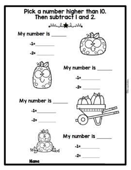 October Open-Ended Math Questions for Journals or Do-Nows (First/Second Grade)